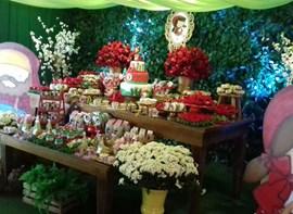 Muro ingles, flores, bolo, kit ROCK opcionais