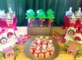 Maçãs, cupcakes, kit ROCK de personalizados opcionais