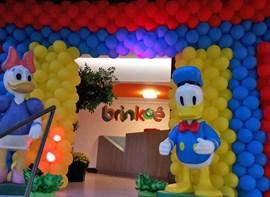 Balões extra para a entrada