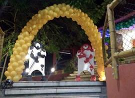 Arco da entrada com Cartas da Alice