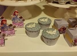 Cupcakes e caixinhas personalizadas (opcionais)
